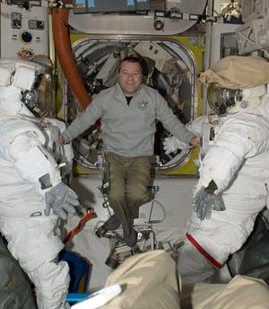 Nicholas Patrick aboard the ISS. Pic: NASA