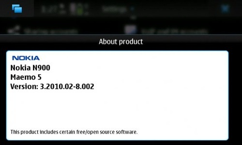 Nokia N900 firmware update