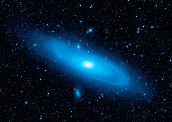 Andromeda at 3.4 microns. Pic: NASA