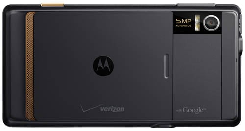 Motorola Droid - back view