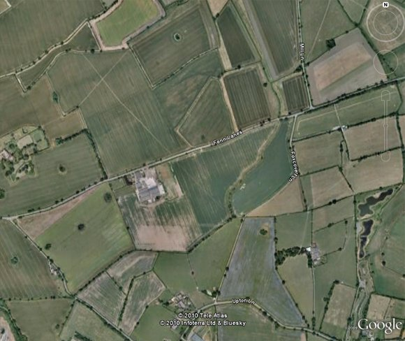 GoogleEarth view of the Battle of Bosworth site