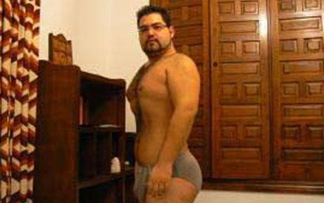 Samuel Martin in his underpants