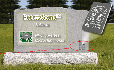 NFC-enabled headstone