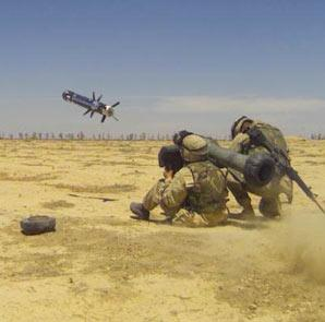 US soldiers fire a Javelin missile. Credit: US Army