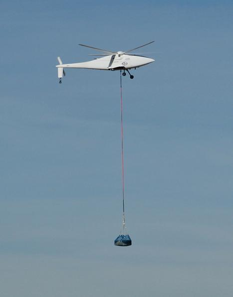The A160T robocopter during autonomous supply trials.