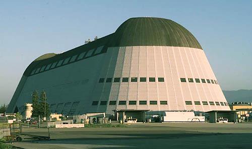 Hangar One at Moffett Field, California - 1999