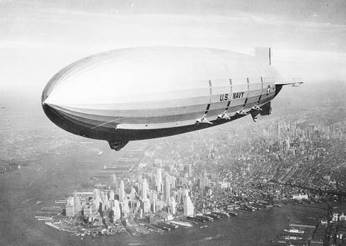 USS Macon over New York City - 1933