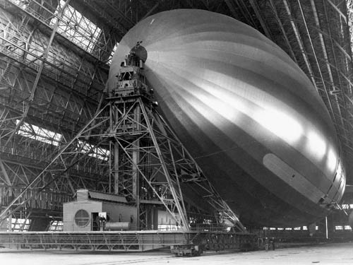 USS Macon in Hangar One, Moffett Field, California - 1934