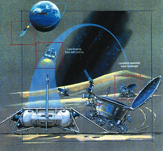 How the Soviet Lunokhod rovers deployed. Credit: NASA.