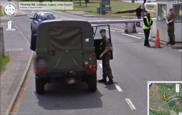 Royal Artillery numberplate now blurred on Street View