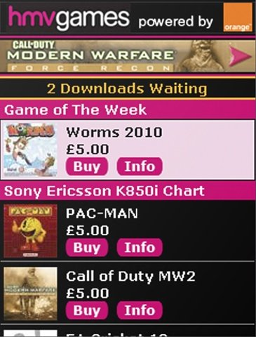 HMV Mobile Games