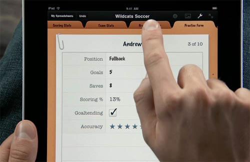 iPad Numbers app