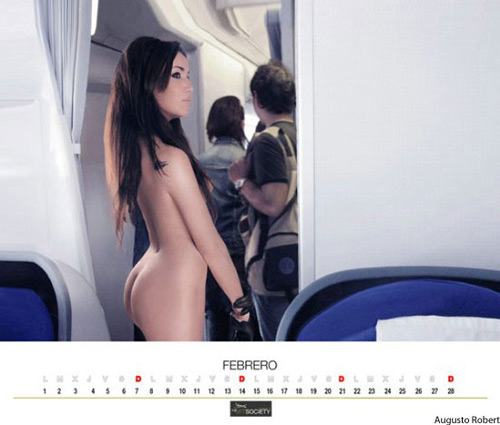 Miss February from the Air Comet calendar