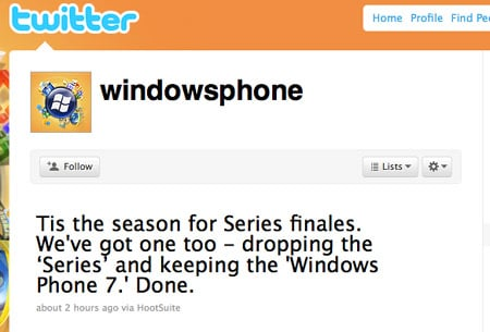 Windows Phone 7 de-Series