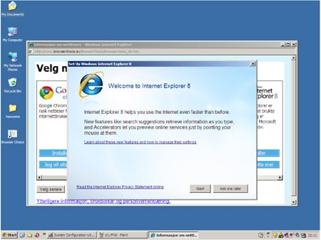 IE configuration screen obscuring the browser-ballot.