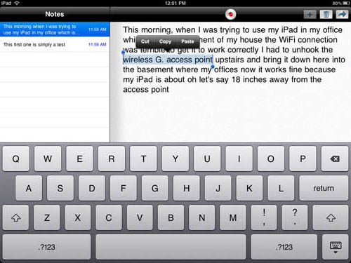 Dragon Dictation iPad app