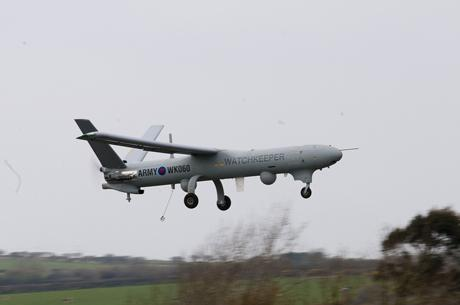 The Watchkeeper makes its first UK flight. credit: Thales UK