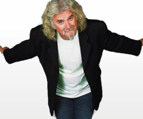 Billy Connolly smiling - white backgro