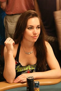 Liv Boeree at the 2008 World Series of Poker. Photo: Gene Bromberg