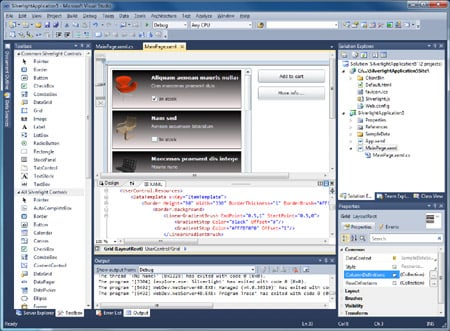 Silverlight 4 in Visual Studio