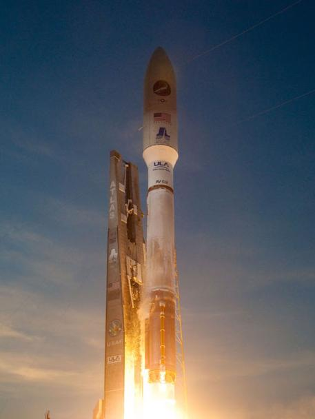 The X-37B lifts off from Cape Canaveral. Credit: ULA