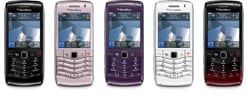 RIM BlackBerry Pearl available in five colours