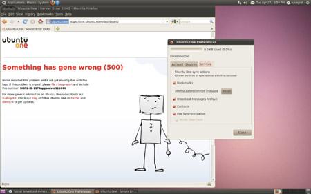 Ubuntu One storage fail