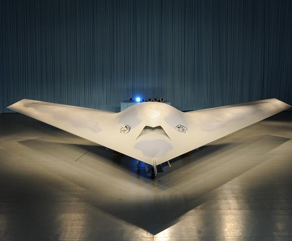 The Phantom Ray at its roll-out ceremony in St Louis. Credit: Boeing