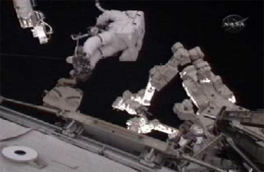 The second spacewalk today