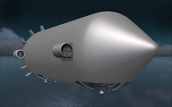 Concept art of the proposed Bullet airship. Credit: E-Green