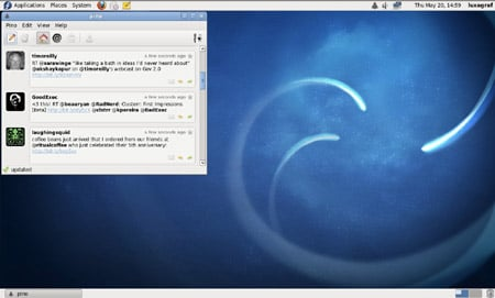 Fedora's Pino social networking client
