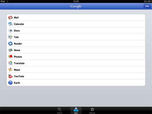 iPad Apps - Google