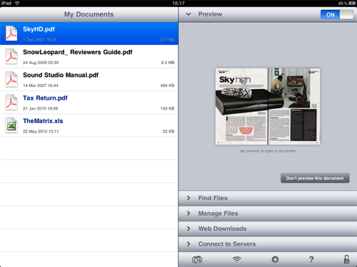iPad Apps - Good Reader