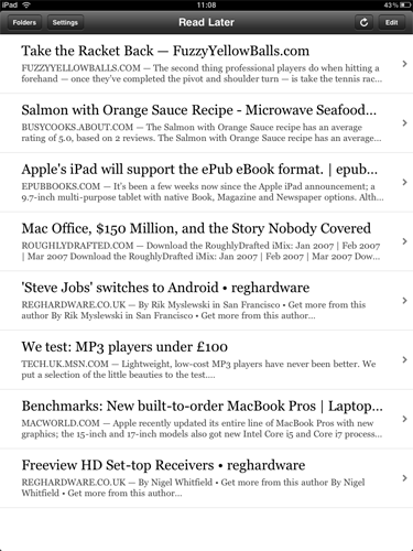 iPad Apps - Instapaper