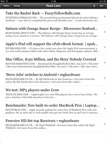 iPad Apps - Instapaper