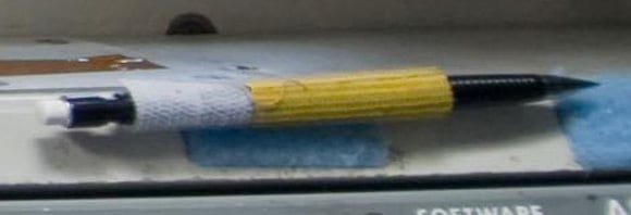 The space pencil as revealed in the above picture