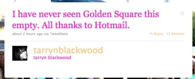 Hotmail new busy golden square