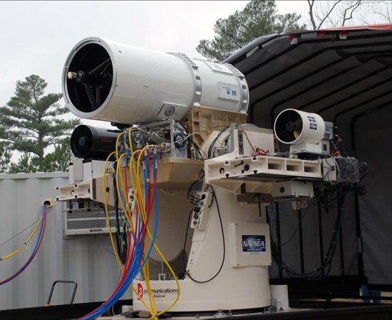 The Laser Weapon System (LaWS) prototype. Credit: NAVSEA