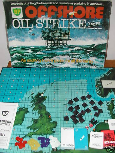 BP Offshore Oil Strike Europe board game