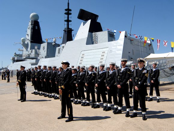 Commissioning ceremonies for HMS Dauntless. Credit: MoD