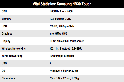 Samsung NB30 Touch