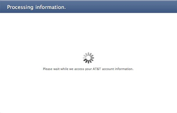 AT&T access error message
