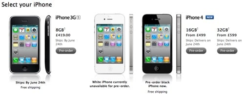 Apple iPhone 4 pre-order
