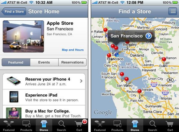 Apple online store, iPhone-app edition