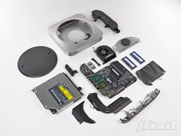 The new Mac mini, completely disassembled