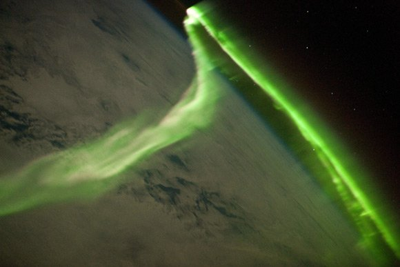 The Aurora Australis seen from the ISS. Pic: NASA