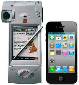 Comparing the first mobile videophone with the iPhone 4