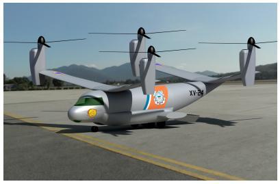 The CAESAR civ-ops tiltrotor concept. Credit: CAESAR team