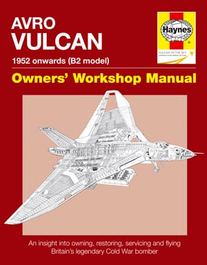 The cover of the Haynes Avro Vulcan manual