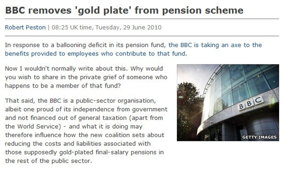 BBC report with Getty image of own building